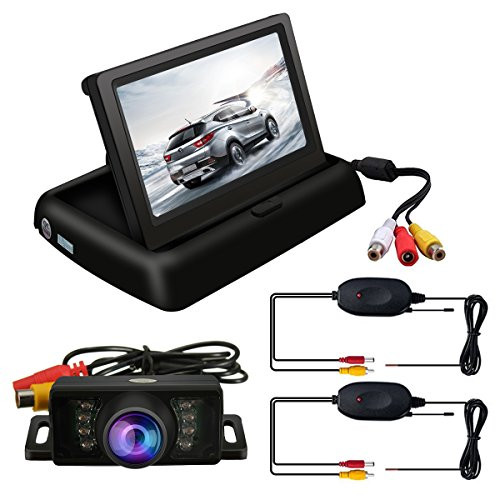 """4.3/"""" LCD Monitor Wireless Vehicle Backup Camera Rear View System Night Vision UR"""
